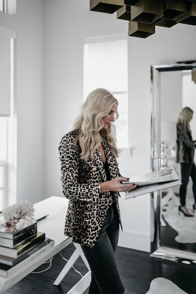 How to style a leopard blazer