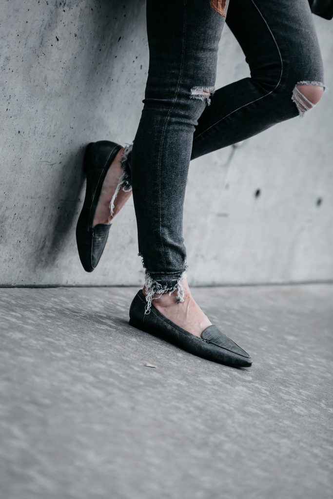 Gray Casual loafers for women