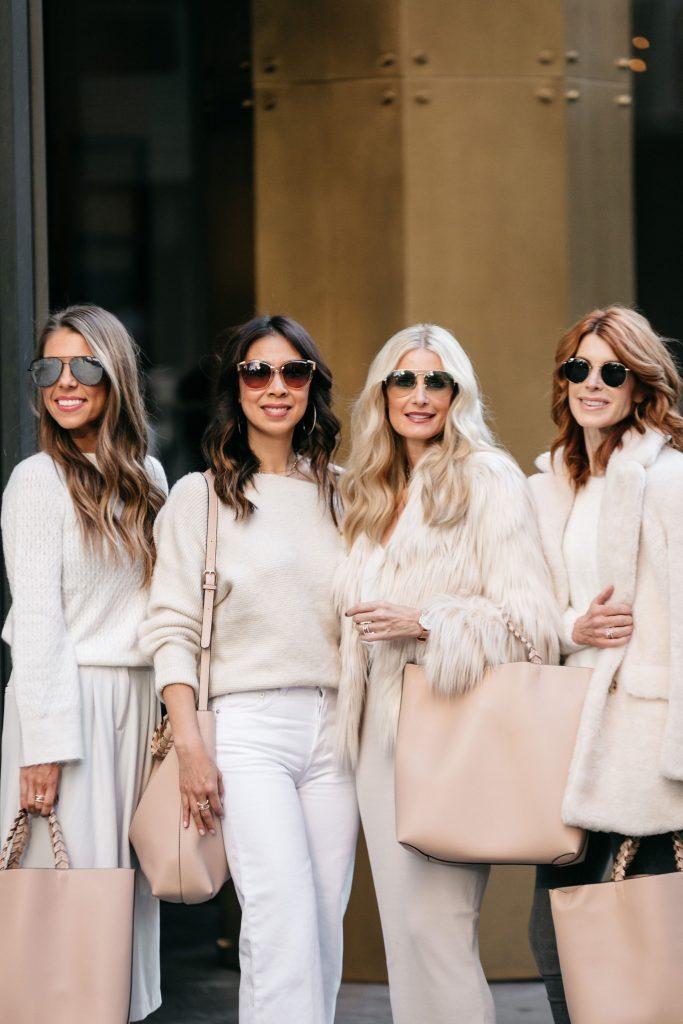 Dallas fashion bloggers wearing winter white