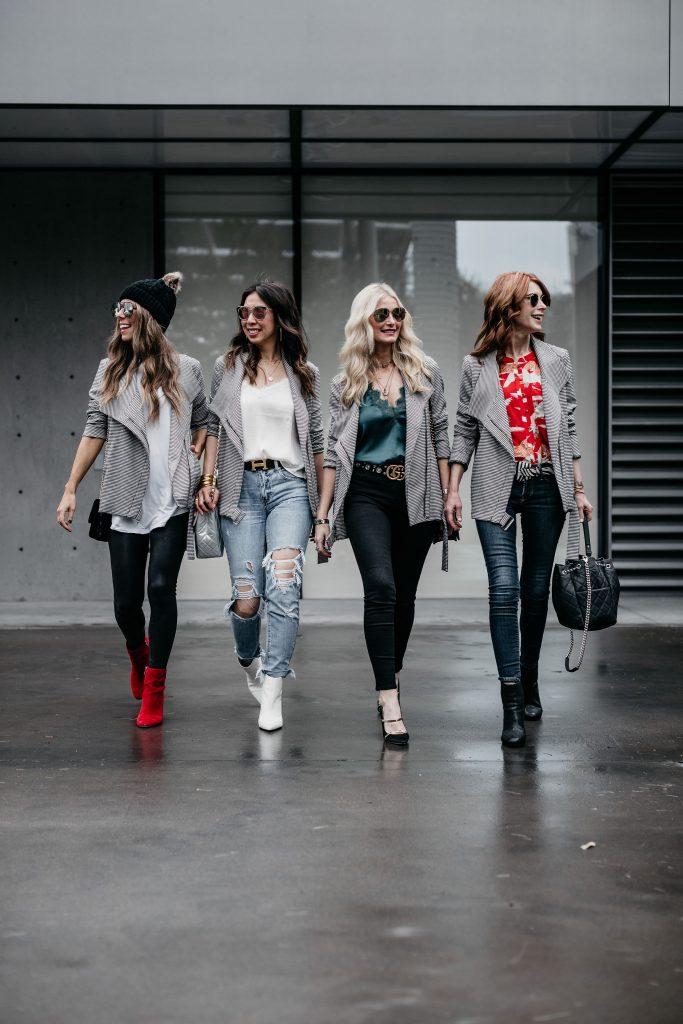 Dallas blogger styling a moto jacket