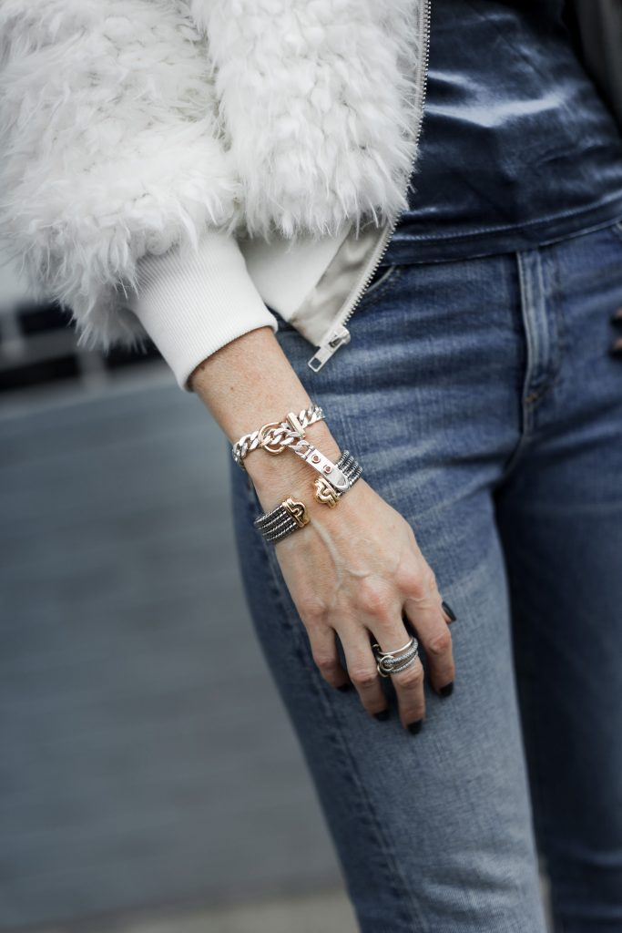 Luxury jewelry and Veronica Beard jeans