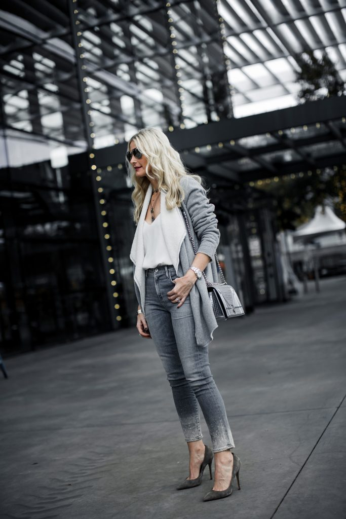 How to style a gray cardigan
