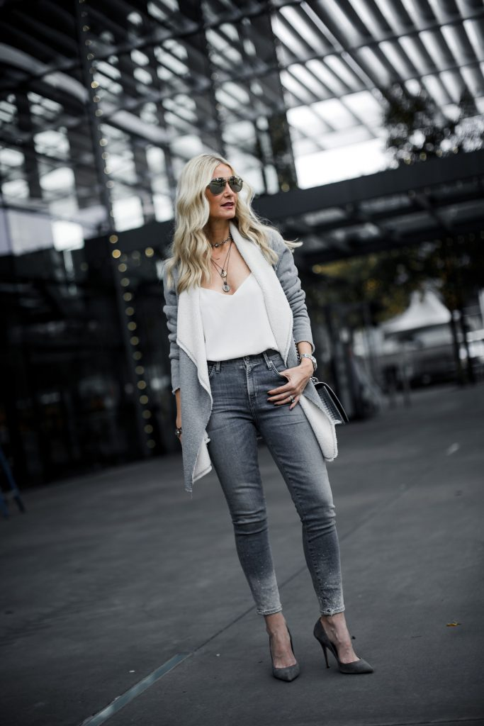 Karen Kane Cardigan and Citizens of Humanity jeans