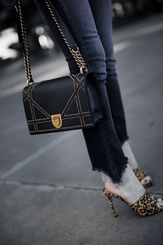 Dallas fashion blogger wearing 3x1 denim and Dior handbag