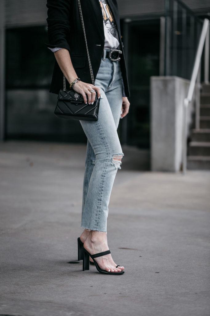 Black blazer and jeans in Dallas, TX
