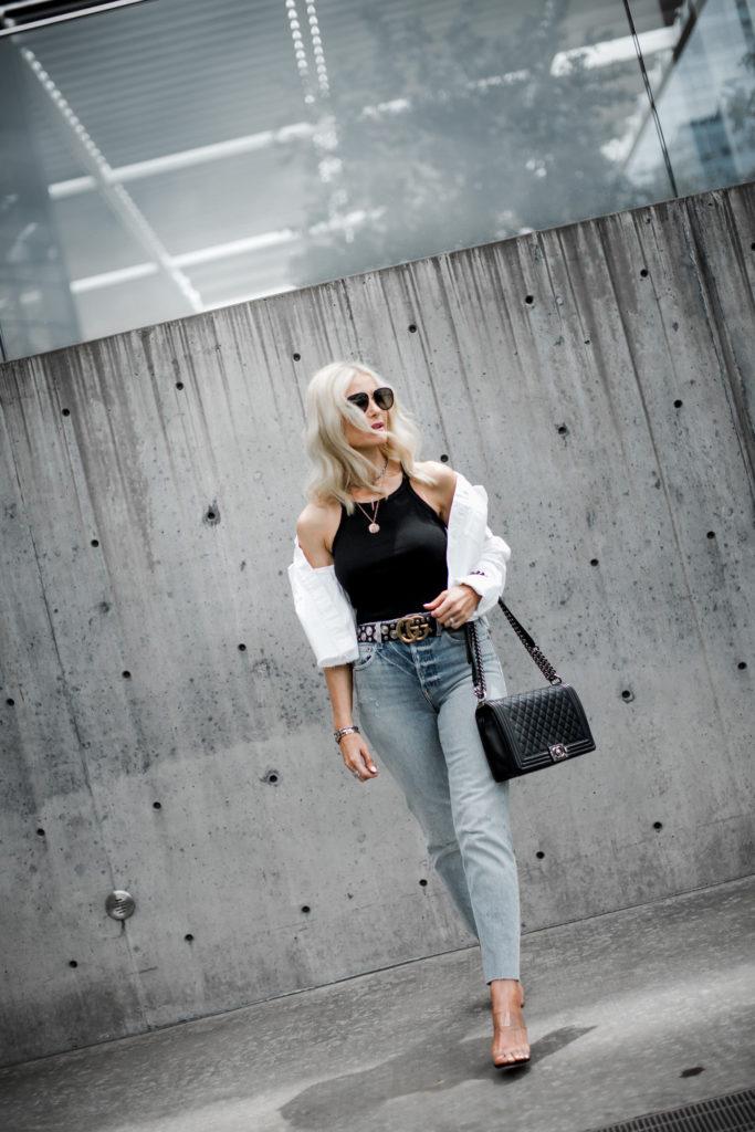 Trave Denim on Dallas fashion blogger