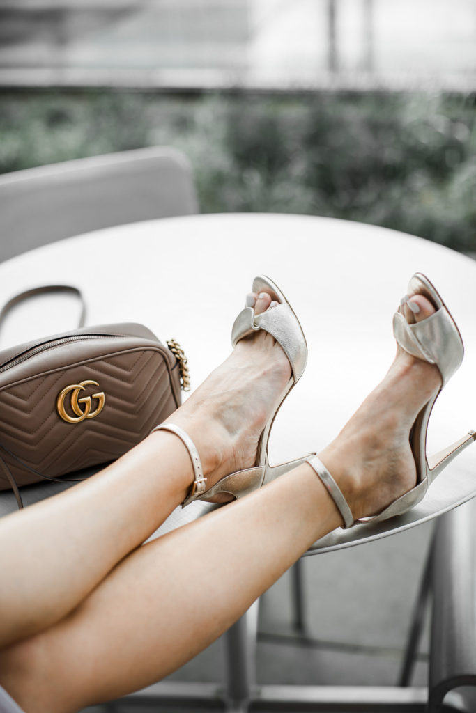 Benincasa heels and Gucci handbag