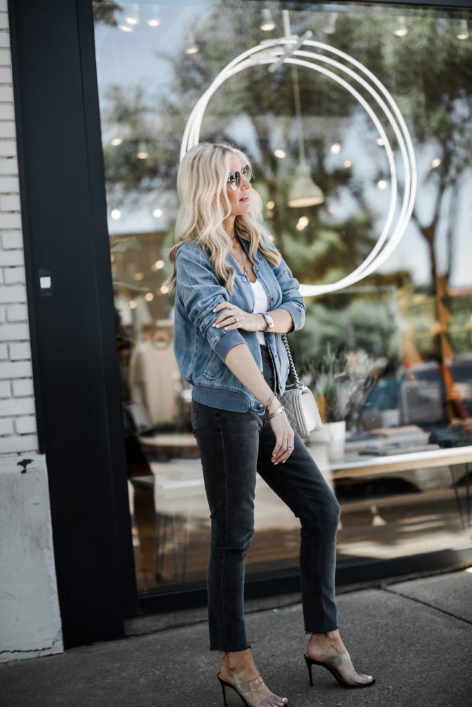 How to style a denim bomber jacket