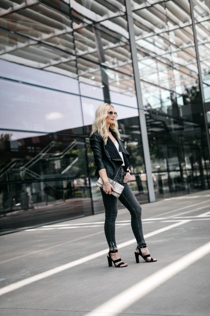How to wear a black moto jacket