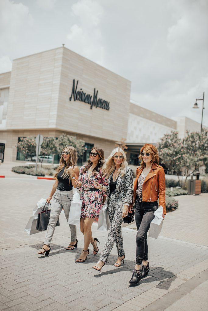 Dallas women shopping at Neiman Marcus