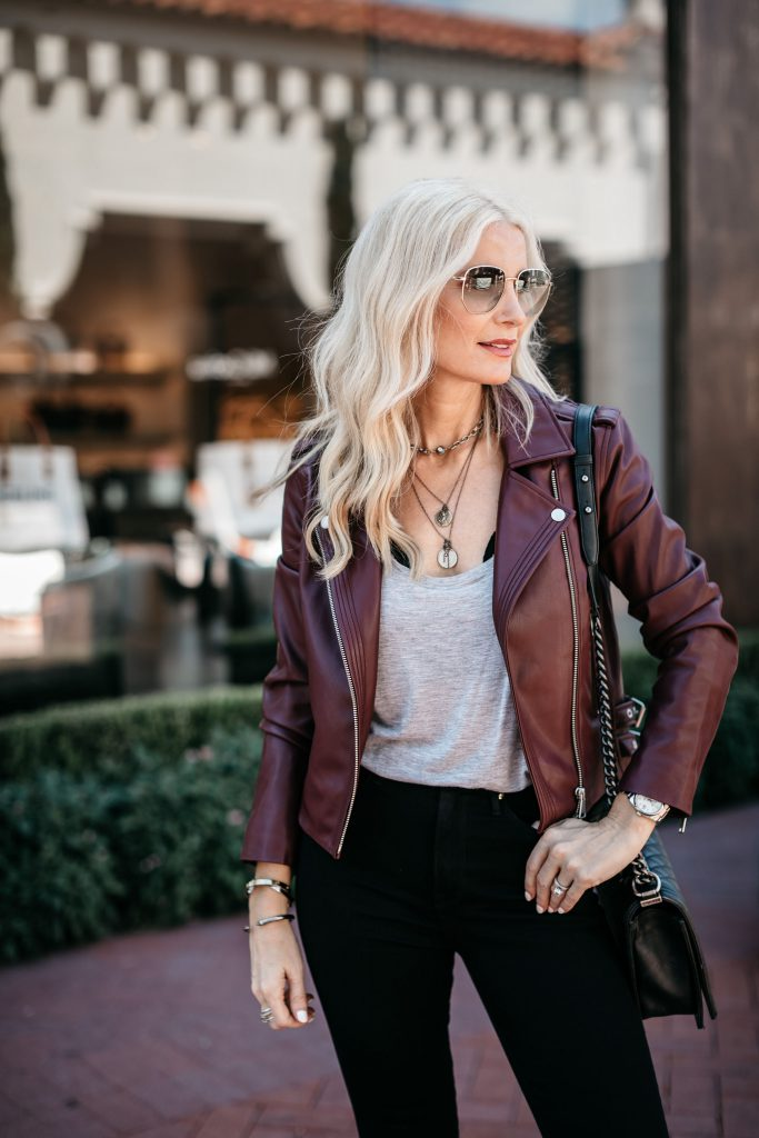 How to wear faux leather jacket