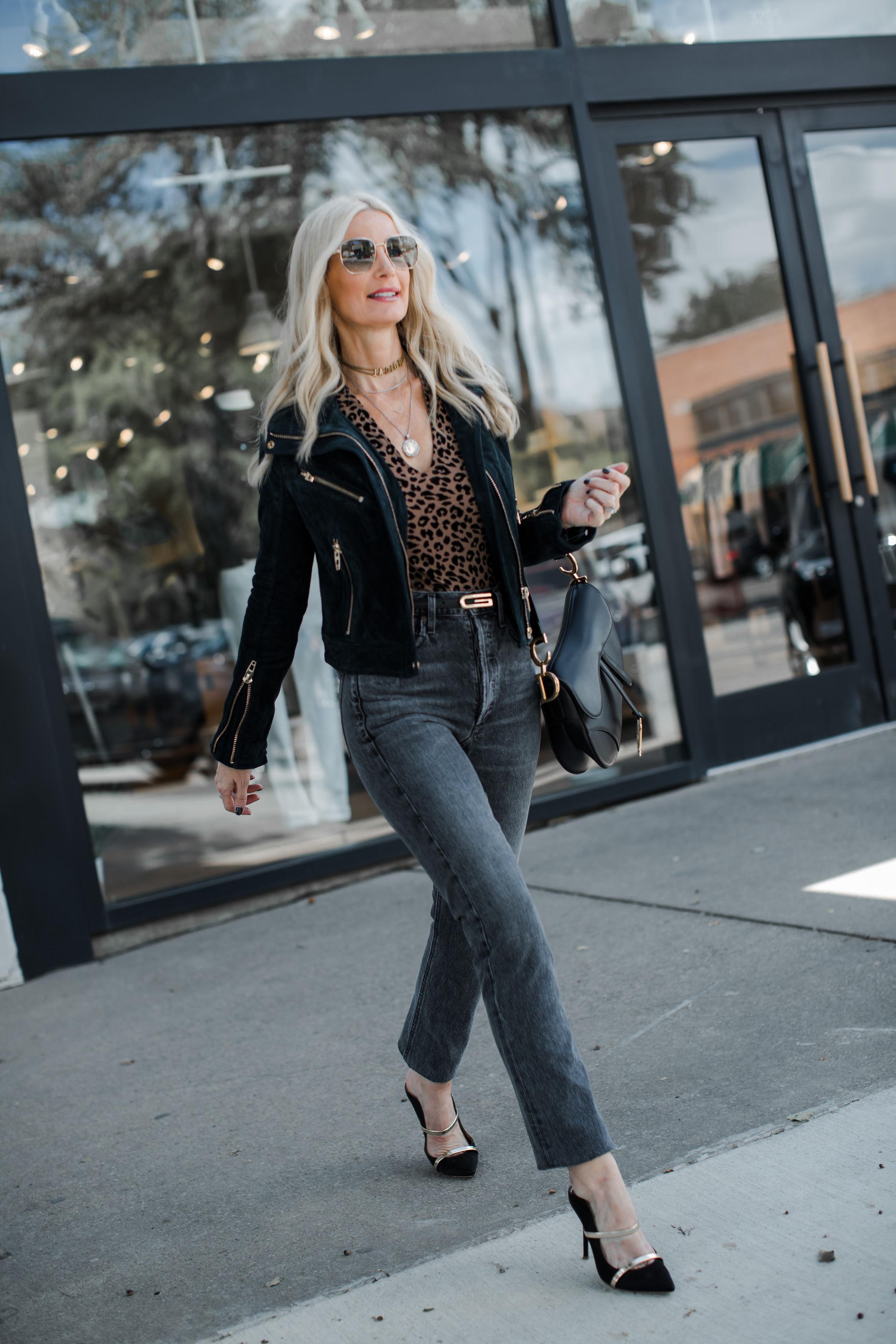 Dallas Fashion Blogger Wearing A Moto Jacket