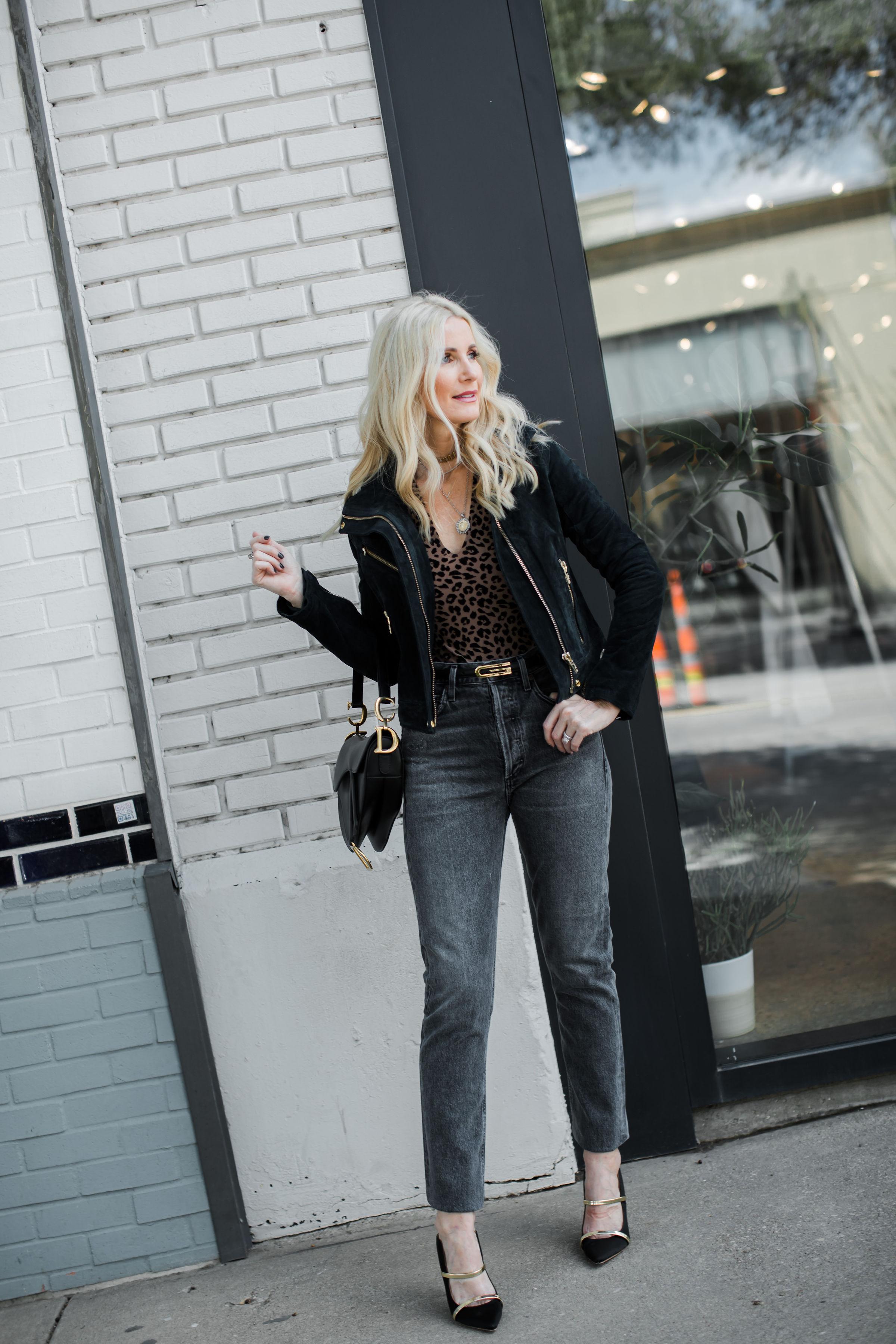 Dallas Fashion Blogger Wearing BlankNYC Jacket