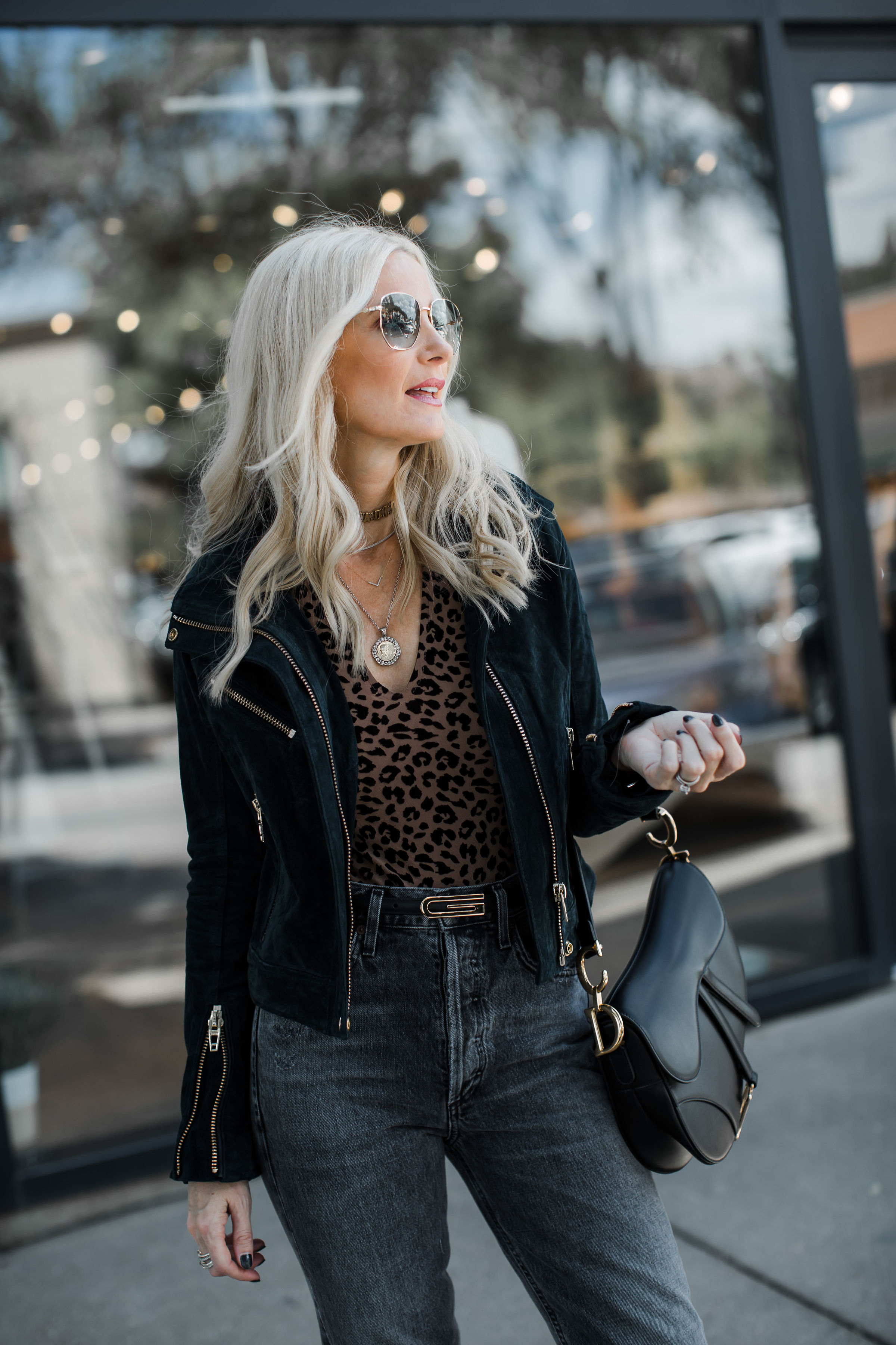 Dallas Blogger Wearing Gucci Belt And Leopard Bodysuit
