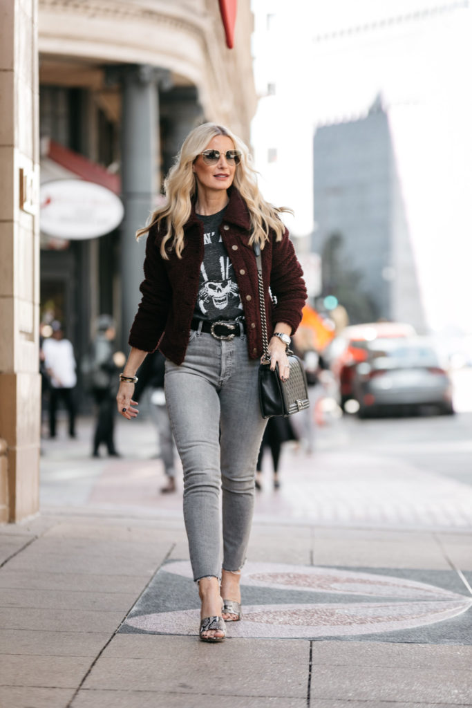 How to wear a faux jacket over 40