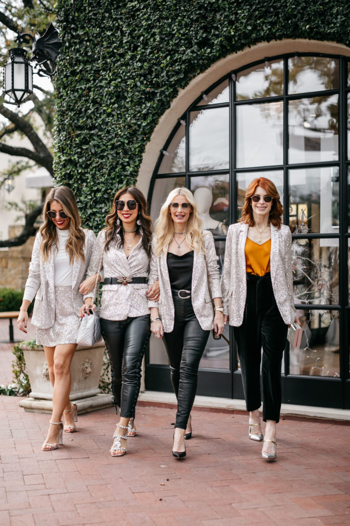 How to style a sequin blazer for NYE