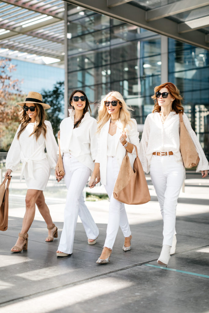 Dallas bloggers wearing all white
