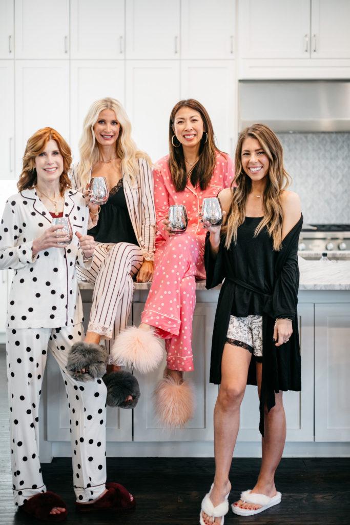 Dallas bloggers wearing Soma intimates pajamas