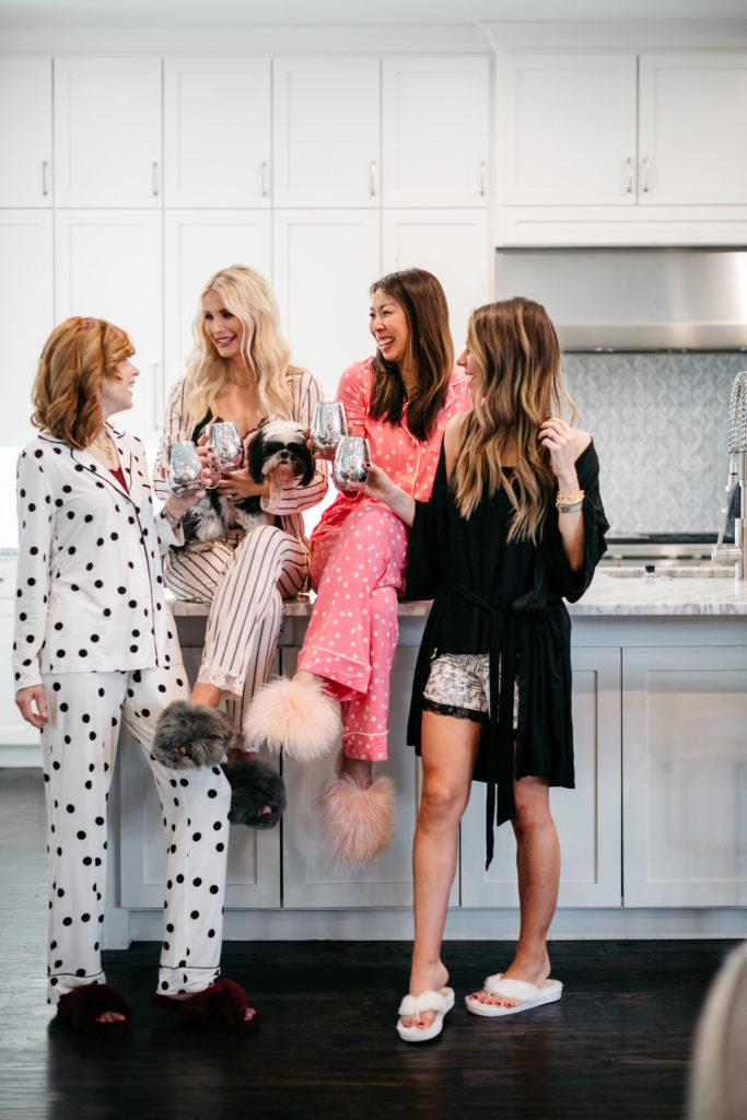 Dallas bloggers sporting Soma Cool Nights pajamas