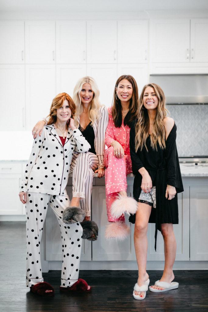 Dallas influencers wearing Soma pj's