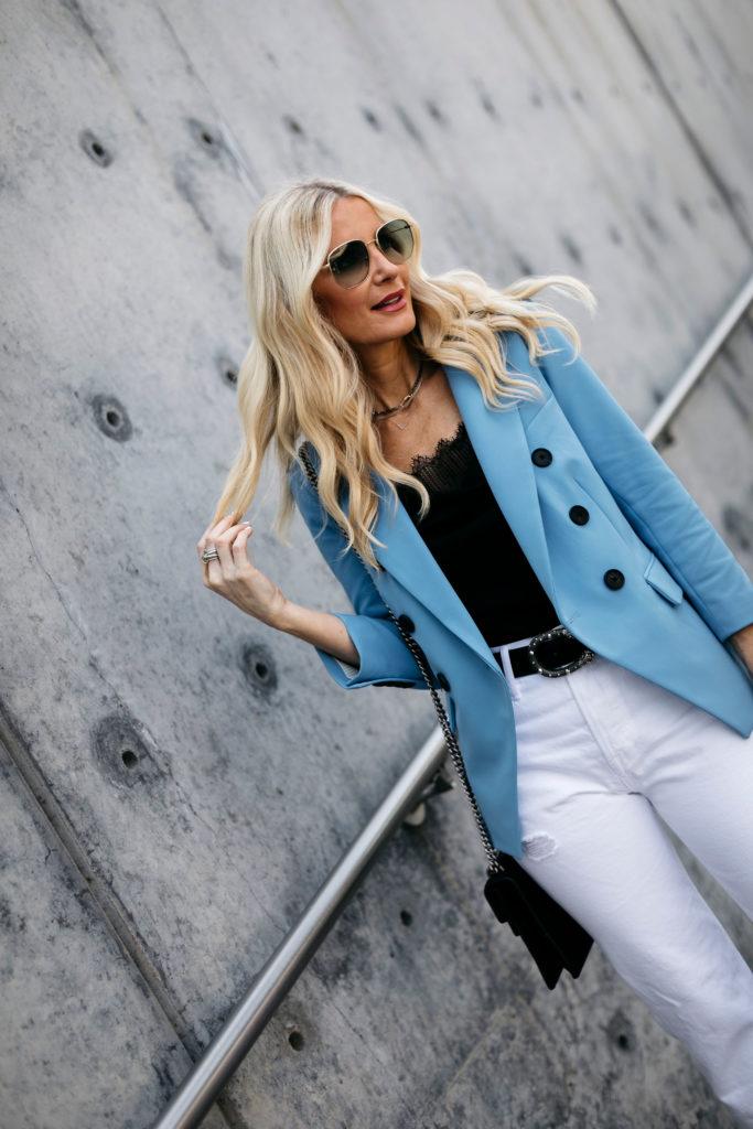 How to wear a Veronica Beard Blazer over 40