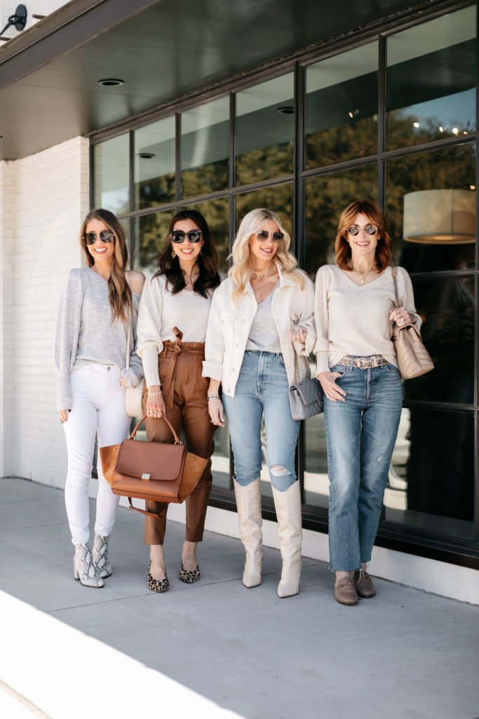 Dallas bloggers wearing denim