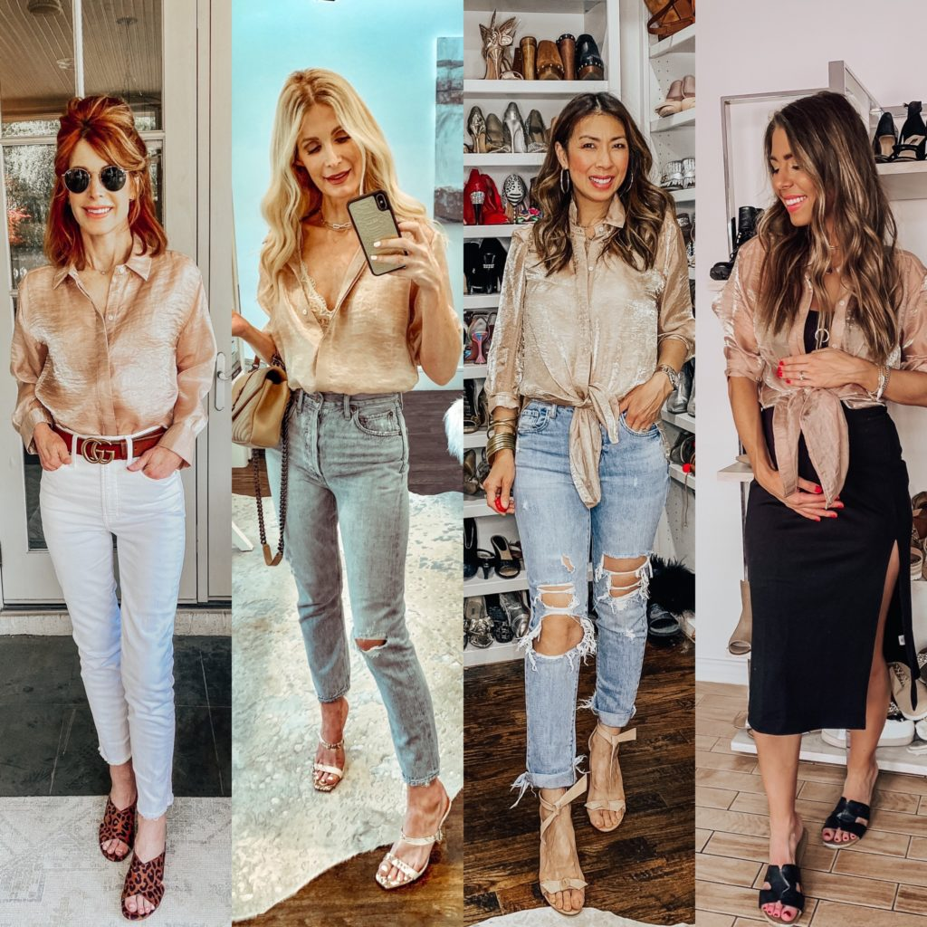 Dallas bloggers wearing a sheer shirt