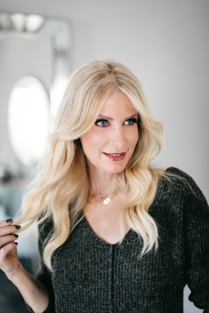 Dallas blogger wearing Nordstrom beauty products to look younger