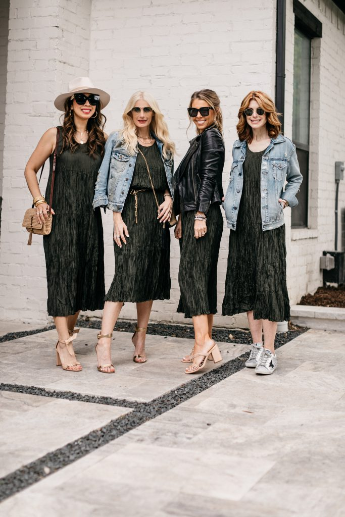 So Heather blog and Chic At Every Age featuring an Eileen Fisher dress and denim jackets