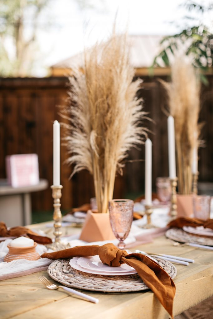 Boho summer table setting