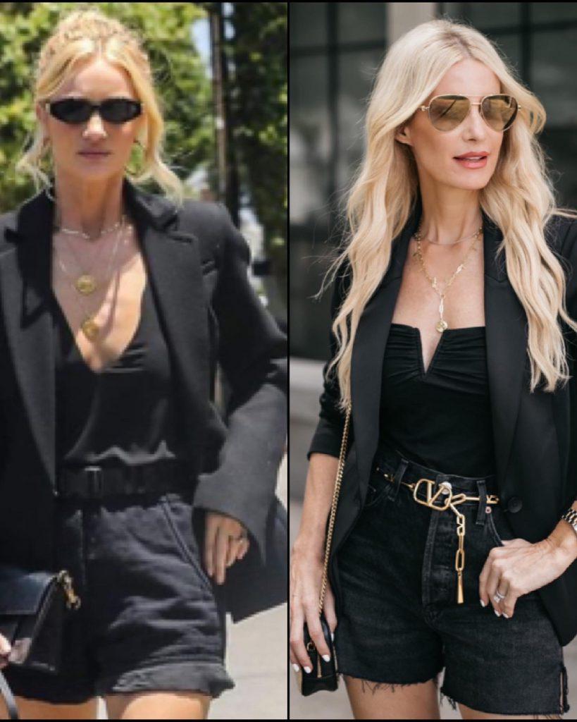 Dallas fashion blogger wearing a black blazer and a belt