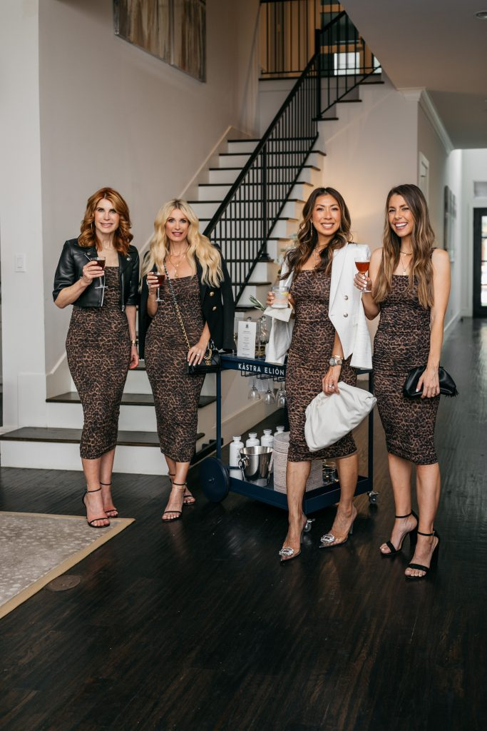 Chic At Every Age wearing a leopard print dress by Good American