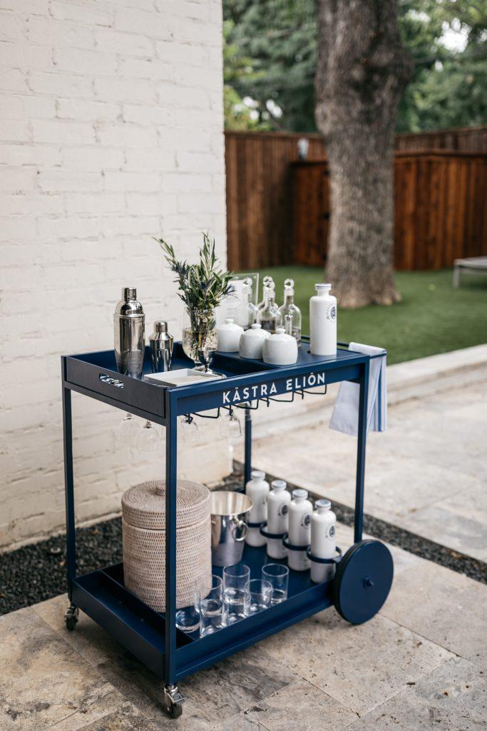 Kastra Elion bar cart for happy hour